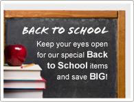 Gardez vos yeux ouverts pour nos articles spécialement destinés à la rentrée scolaire et économisez UN MAX !